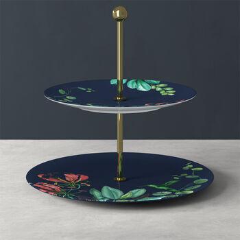 Avarua Gifts Etagere, 27,5x26,7cm, blau/bunt