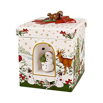 Christmas Toys großes eckiges Geschenkpaket Weihnachtsbaum, 16 x 16 x 21,5 cm