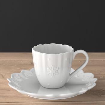 Toy's Delight Royal Classic Kaffeetasse mit Untertasse, weiß, 230 ml, 2-teilig