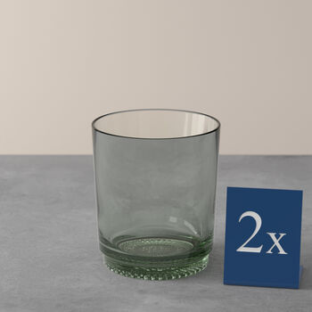 like. by Villeroy & Boch it's my match Wasserglas-Set mineral, grün, 9 x 10 cm, 2-teilig