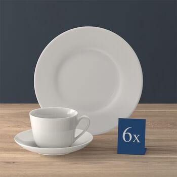 Twist White Kaffee-Set, 18-teilig, für 6 Personen