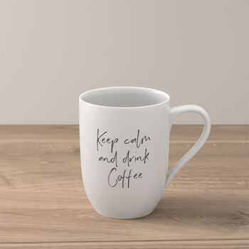 """Statement Becher """"Keep calm and drink coffee"""""""