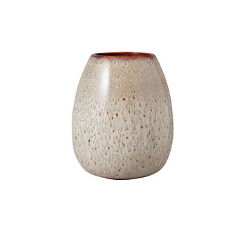 Lave Home Vase Egg Shape, 14,5x14,5x17,5cm, Beige