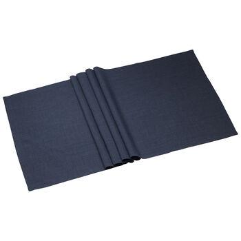 Textil Uni TREND Laeufer vintage blue 50x140cm