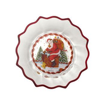 Christmas Glass Accessories Schale klar Santa auf Dach 250mm
