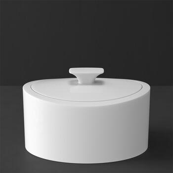 MetroChic blanc Gifts Porzellandose 16x13x10cm