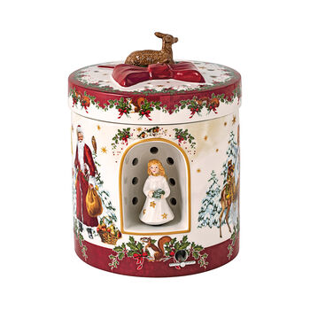 Christmas Toys großes rundes Geschenkpaket Christkind, 17 x 17 x 21,5 cm