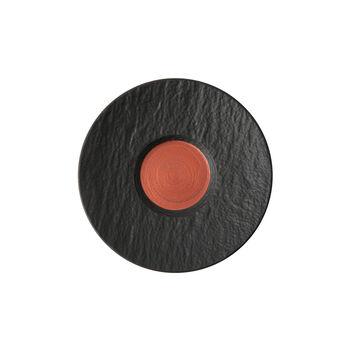 Manufacture Rock Glow Café au lait-Untertasse, kupfer/schwarz, 17 x 17 x 2 cm