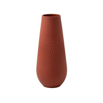 Manufacture Collier terre hohe Vase, Carré, 11,5x11,5x26cm