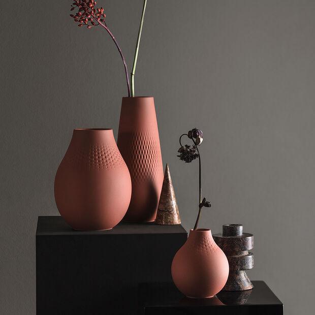 Manufacture Collier terre hohe Vase, Carré, 11,5x11,5x26cm, , large