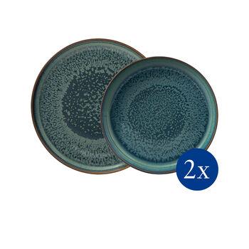 Crafted Breeze Tafel-Set, graublau, 4-teilig