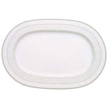 Gray Pearl Platte oval 35cm