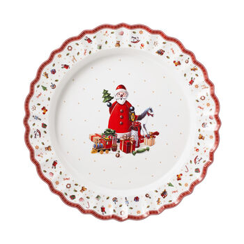 Toy's Delight Servierplatte, bunt/rot/weiß, 45 cm