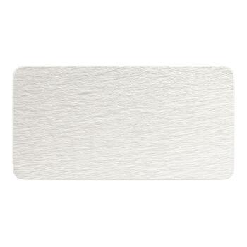 Manufacture Rock Blanc rechteckige Servierplatte, weiß, 35 x 18 x 1 cm