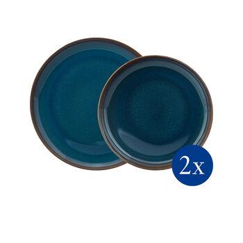 Crafted Denim Tafel-Set, blau, 4-teilig