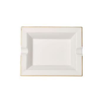 Anmut Gold Ascher, 17 x 21 cm, Weiß/Gold