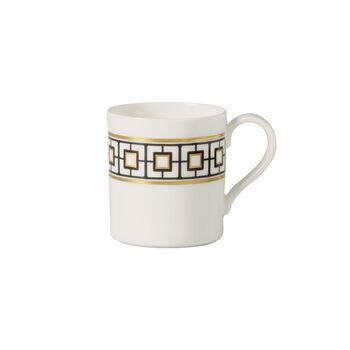 MetroChic Kaffeetasse, 210 ml, Weiß-Schwarz-Gold
