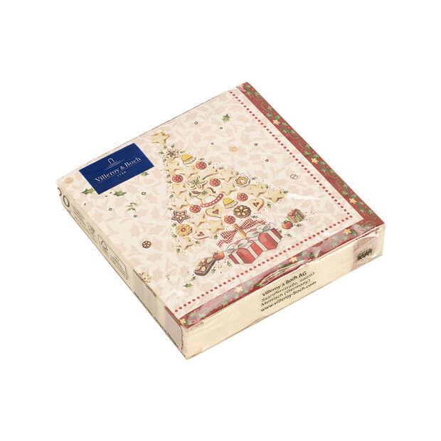 Winter Specials Bakery Cocktail-Serviette Weihnachtsbaum, weiß/bunt, 20 Stück, 25 x 25 cm, , large