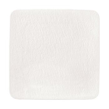 Manufacture Rock Blanc quadratische/r Servierplatte/Gourmetteller, weiß, 32,5 x 32,5 x 1,5 cm