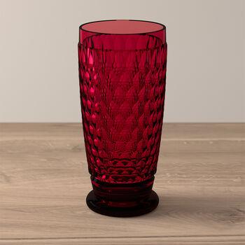 Boston Coloured Longdrink-Glas Red