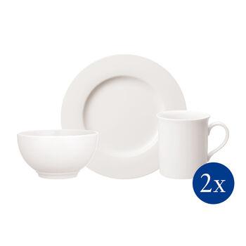 Twist White Frühstücks-Set für Zwei 6-teilig